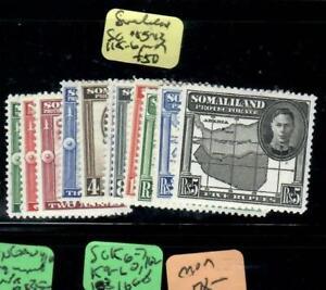 SOMALILAND   (PP2108BB)  KGVI  SG 105-113, 115-6   MOG