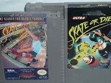 2 Extreme Sports Games - Skate or Die 1 & 2  NES 1988 MINT LOOKS & EXCEL WORKING
