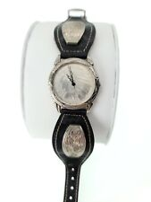 Coin Leather Wrist Watch Vintage Mens 1910 Indian Head