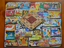 Vintage Board Games Night 1000 Pc Jigsaw Puzzle White Mountain Kids Family Teens