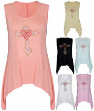 Scoop Neck Stretch Casual Sleeveless Tops & Shirts for Women