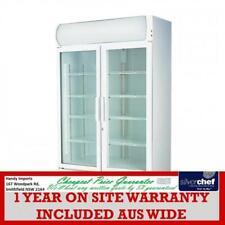 FED COMMERCIAL TWO GLASS DOOR COLOURBOND UPRIGHT DRINK FRIDGE CHILLER LG-730GE