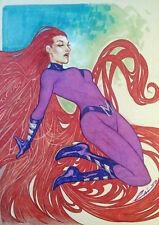 Emilio Laiso - Inhumans: Medusa Pin Up A5 Original Art