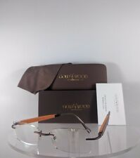 Brand New Authentic Gold & Wood N07 59 28 NoTo55 Rimless Eyeglasses Brown Frame
