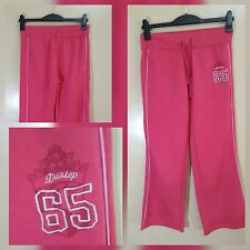 "LADIES DUNLOP PINK TRACK SUIT ""DUNLOP 65"" BOTTOMS -UK SIZE 12"