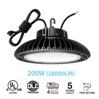 LED High Bay Lights 28000LM(200W )Dimmable LED UFO High Bay Warehouse Lighting