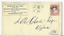 1867 US Ad Cover w/ Contents, Felt & Co Machine & Furnace Shop - Greenfield MA*