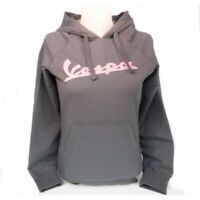 Genuine Hooded Sweatshirt Womans Vespa Logo Hoodie Grey Small New 605499M02G