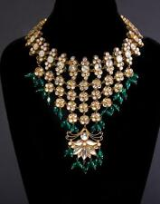 """Lady GaGa """"The Countess"""" silver set Indian style rhinestone necklace... Lot 1176"""