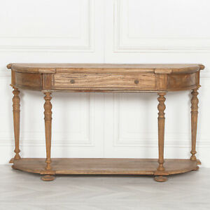 Rustic Wood Art Deco Style Antique Chunky Console 151 cm Wooden TV Stand