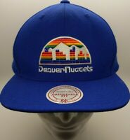 Mitchell & Ness Denver Nuggets Rainbow Skyline Blue Snapback Adjustable Hat Cap