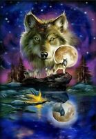 DIY Diamond Painting Part Drill Wolf 5D Embroidery Cross Stitch Kits Mural Decor