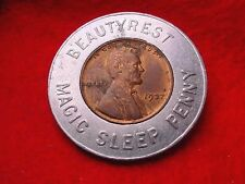 1937 BEAUTYREST MAGIC SLEEP LUCK ENCASED LINCOLN CENT!!  #415