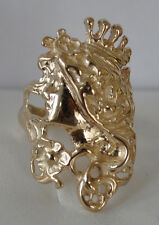 Beautiful 14K Yellow Gold Art Nouveau Style Ring