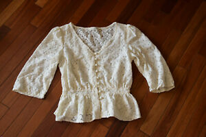 Sz M Top Victorian Lace Cosplay Costume Blouse Top Shirt
