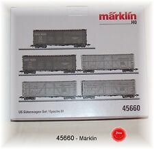 Märklin 45660 US-Güterwagenset 5-teilig jeweils einzeln verpackt #NEU in OVP#