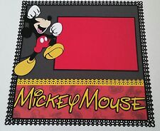 """Disney Mickey Mouse Scrapbook Page 12""""x12"""" Layout Add 2 Shadow Box, Frame 4 Gift"""