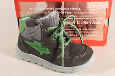 Superfit Boys Ll Boots Grey/Green Leather Footbed 00324 New
