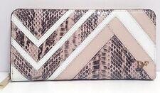 Diane von Furstenberg Wallet Zip Around Patchwork Leather Continental (Blossom)