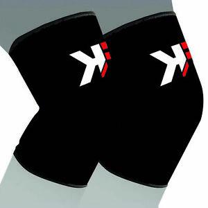KIKFIT Elasticated Knee Support Compression Brace Sprains Strains Injury Sport