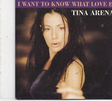 Tina Arena-I Want To Know What Love Is cd single