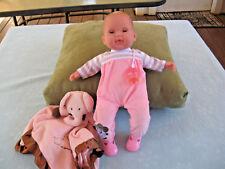 """Jc Toys Berenguer 15"""" Girl Doll Wih Pacifier Fully Dressed & Lovee Blanket"""