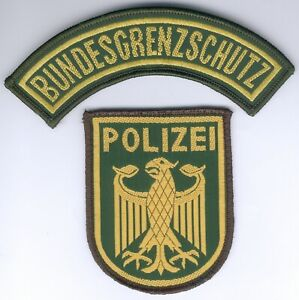 German Police/Bundespolizei Border Patrol 2Item SET for old green Uniform, RARE