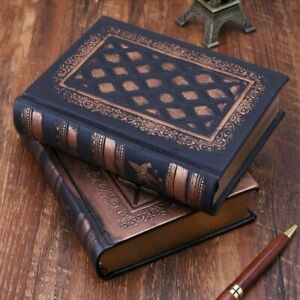 Retro Vintage Journal Diary Notebooks Leather Blank Hard Cover Sketchbooks Paper
