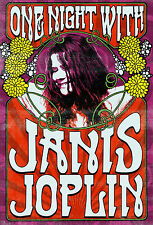 Janis Joplin (2)  Vintage 4x6 Mini Poster