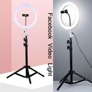 10' Dimmable Led Ring Light Photography Selfie Photo Studio Youtube For iPhone X