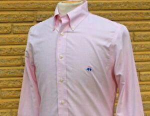 Men's Brooks Brothers Pink Striped Long Sleeve Dress Shirt Size Small REGENT