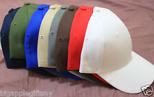6 PCS Plain Baseball Cap Solid Color Blank Curved Visor Hat Adjustable size