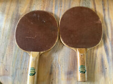 Vintage Firestone Table Tennis Paddles Bats Lot Of 2 Ping Pong 3 Ply