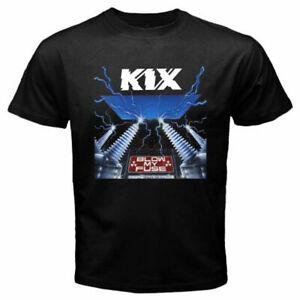 KIX Blow My Fuse Men's Black T-Shirt Size S M L XL 2XL 3XL