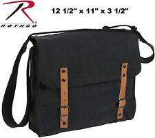 Black Vintage Military Canvas Shoulder Medic Bag Courier Bag Messenger Bag 9127