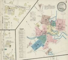 Amesbury, Massachusetts~ 17 sanborn maps~ 1885-1889 in color on a Cd