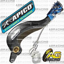 Apico Black Blue Rear Brake Pedal Lever For Yamaha YZF 250 2014 Motocross Enduro