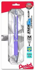Pentel EnerGel Alloy RT Retractable Liquid Gel Pen - Metal Barrel 0.7mm - Violet