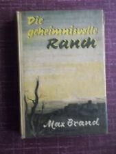 """Western-Leihbuch MAX BRAND """"Die geheimnisvolle Ranch"""" AWA-Verlag, München"""