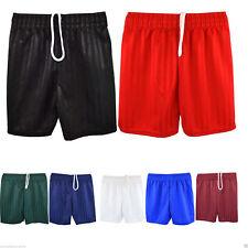 Mens/Womens Boys/Girls Football Shorts Rugby Gym Running Sports SchoolP.E Shorts
