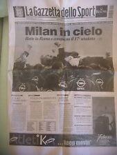 A.C. MILAN CAMPIONE D' ITALIA CALCIO 2004 17° SCUDETTO GAZZETTA SPORT
