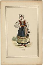 Russian Costume, hand colored lithography from ca 1860.