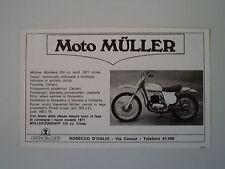 advertising Pubblicità 1971 MOTO MULLER 250 CROSS
