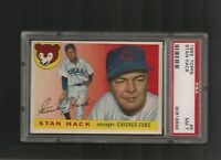 1955 Topps #  6 Stan Hack PSA 7 NM