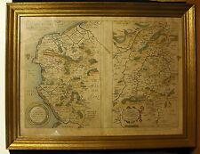 Intéressante carte XVII eme Caen Saint Quentin Vermandois Comte de Oye Guisnes
