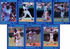 RARE-ODDBALL BO-'90 Bo Jackson 7-CARD LOT ROYALS WHITE-SOX ANGELS AUBURN