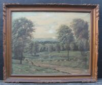 COUNTRY SCENE, OIL ON CANVAS, EARLY 20TH-CENTURY