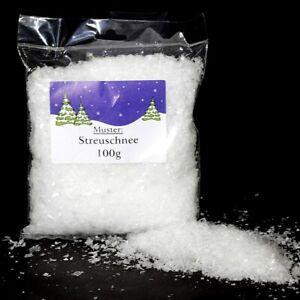 Kunstschnee Dekoschnee Schnee Weiß 100g Streuschnee Kristallschnee