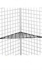 "3 Corner Shelves Shelf Triangle Wire Grid Slat Grid Black 24"" x 24 x 32"" Display"