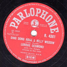 RARE LORRAE DESMOND 78  DING DONG ROCK-A-BILLY WEDDING  UK PARLOPHONE R 4361 EX-